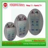 Tipo Pocket bateria recarregável de Hengming 1.2V75ah Kpm75 da série de Kpm da bateria de cádmio niquelar (bateria Ni-CD)