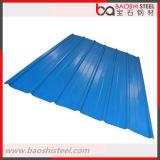 Hoja de acero acanalada prepintada galvanizada sumergida caliente del material para techos