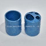 5 частей, голубой керамический комплект ванной комнаты