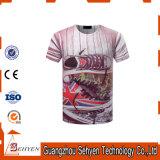 남자 t-셔츠를 인쇄하는 관례에 의하여 인쇄되는 폴리에스테 t-셔츠 3D 승화