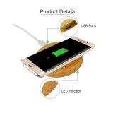 Caricatore senza fili di legno caldo del Qi del telefono mobile di vendita della Cina 2016 da vendere