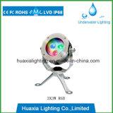 Luz subaquática da associação do diodo emissor de luz da cor do RGB para a iluminação do ponto