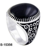 Monili d'argento di vendita caldi 925 anelli d'argento degli uomini di colore dell'oro della Rosa