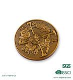 Le nuove monete in bianco del metallo dello specchio con oro placcato