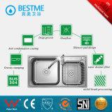 Foshan에서 최신 판매 Ss304 스테인리스 두 배 사발 부엌 개수대