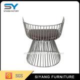 Poltrona moderna em aço para mobiliário para sala de estar, sala de estar