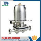Válvula de diafragma manual inoxidable del acero Ss316L