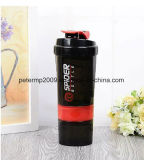 material de 600ml PP 3 camadas do frasco esperto do abanador da proteína