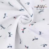 Tissus tissés de popeline estampés par libellule bon marché de Tc65/35 45s*45s 133*72 pour la chemise de femmes