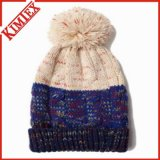 형식에 의하여 뜨개질을 하는 케이블 자카드 직물 모자