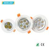 La qualité 3W chauffent la lumière en aluminium blanche Dimmable DEL Downlight d'endroit