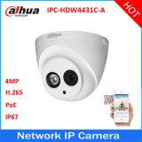 Audio macchina fotografica del IP di obbligazione della rete della cupola di Dahua Ipc-Hdw4431c-a HD 4MP Poe