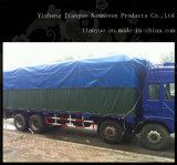 トラックのカバーまたはテントのための炎抵抗のPVCによって塗られる防水シート