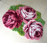 コンピュータの刺繍の日本様式の花の装飾カスタムシャギーな領域敷物