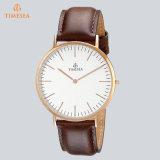 Vigilanza su ordinazione del quarzo degli orologi di marchio del Mens con Leather72024 genuino