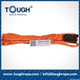 Fibra 100% resistente de Uhwmpe da corda da corda sintética do guincho Orange7mmx30m4X4