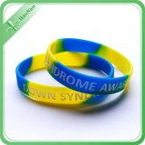 Multi Wristband de borracha colorido do silicone 2017 para relativo à promoção