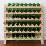 Estante libre del vino del suelo de la situación 16-Bottle de madera amontonable de Modularack