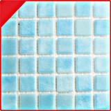 Mosaico de cristal azul del estándar europeo para el azulejo 25*25 de la piscina