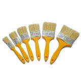 Cepillo plano Econ (GMPB008) de la cerda de la mezcla de la maneta plástica blanca del color