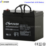 batterie Cspower CS12-33D de la batterie d'accumulateurs de batterie solaire de 12V 33ah VRLA