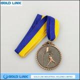 Souvenir en laiton antique de médaillons de récompense de pièces de monnaie de concurrence de médaille de basket-ball de qualité