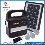 Lâmpada solar do diodo emissor de luz da luz solar clara solar portátil da C.C. do diodo emissor de luz da luz