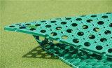 Estera de goma colorida, esteras de goma del suelo para la hierba, césped