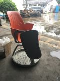 Standardknotenpunkt-Stuhl Clssroom Trainings-Stuhl mit Schreibens-Auflage-Plastikstuhl mit Schreibens-Auflage