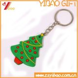 Andenken-Geschenke Wholesale Weihnachtenkeychain 3D GummiKeychain Schlüsselring Belüftung-
