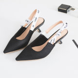 Chaussures occasionnelles peu profondes en cuir de Madame Pointed Toe Ballerina d'appartements