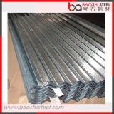Placa de acero galvanizada acanalada para la hoja del material para techos