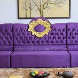 居間(SP-KS370)のための優雅な大気ファブリックレストランの家具のソファー