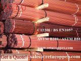 Tubulação de cobre de C12000 China para o abastecimento de água