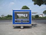 Tres carros móviles de los alimentos de preparación rápida de la calle abierta de la ventana de caras mini (SHJ-MFS250)