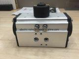 작동하고는/단 하나 작동 두 배를 가진 선반 & 피니언 유형 압축 공기를 넣은 액추에이터