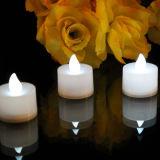 Sin llama LED de la vela de la batería de té blanco para la decoración de la boda