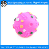 Mulicolour cuadrícula Huellas Squeakly bola de hámster para perros