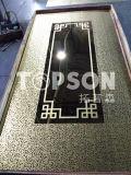 Plaque d'acier inoxydable repérant le décor décoratif d'ascenseur de couleur