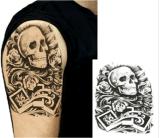 Autoadesivo provvisorio impermeabile del tatuaggio della spalla del braccio di disegno del cranio