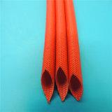 De silicone Met een laag bedekte Kokers van de Thermische Isolatie van de Glasvezel voor de Bescherming van de Kabel van de Draad van de Hoogspanning