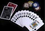 O póquer Stars cartões de jogo plásticos do póquer do PVC de 100%