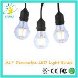 Lampe neuve de Whosale d'ampoule de filament du modèle DEL d'A19/A60 3W