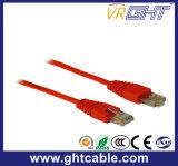 cabo da correção de programa de Al-Magnésio RJ45 UTP Cat5 de 0.5m/cabo de correção de programa