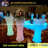 Mobilia della presidenza LED del cubo della barra della presidenza del sofà del contatore LED della barra illuminata Tabella di incandescenza LED del LED