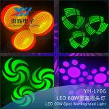 Des DJ-Dicso bewegliches Hauptpunkt-Licht-neue Produkte 60W Stadiums-Erscheinen-LED