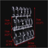 3 Rek van de Vertoning van het Horloge van rijen het Acryl Transparante