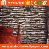 Papel pintado de madera del diseño 3D del precio al por mayor de China para la decoración casera