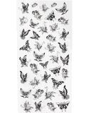 autoadesivo provvisorio impermeabile del tatuaggio di disegno della farfalla di modo