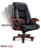 Büro-ergonomisches Luxuxhotel-hölzerner lederner Chef-vollziehendstuhl (RFT-6207)